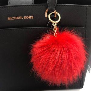 NWT Michael Kors Puff Keychain!